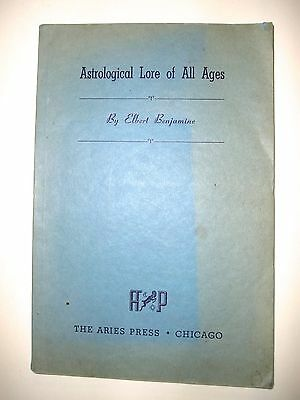 1945 Astrological Lore of All Ages, Church of Light, Mysticism, 1st Ed