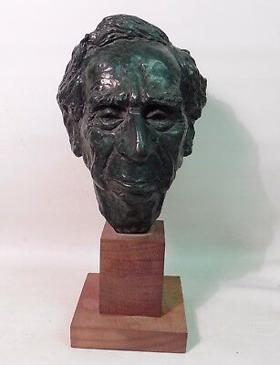 William Timym Mbe (1901-1990)  Bronze Bust Of Philosopher Sir Bertrand Russell