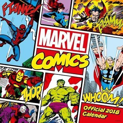 Marvel Comics Classic Official 2018 Wall Calendar by Danilo, Postage Included