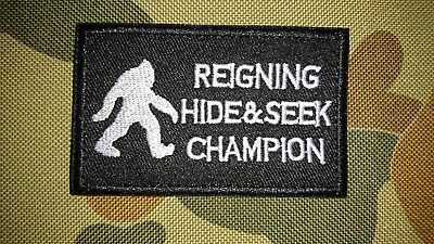 New Bigfoot Reigning Hide Seek Champion Tactical Morale Airsoft Patch Australia