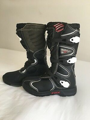 FOX Kids Protective Motorcross Boots GREAT COND, HARDLY WORN- Sze EUR 36/USA Y4