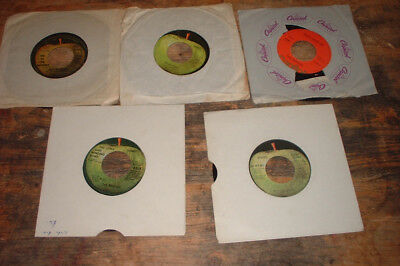 "non UK THE BEATLES & RELATED  records collection 7"" x 5"