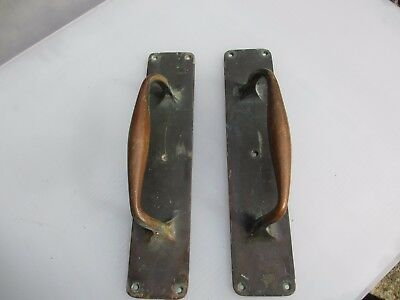 Antique Bronze Door Handles Shop Pulls Cinema Vintage Old Pub Edwardian   12""
