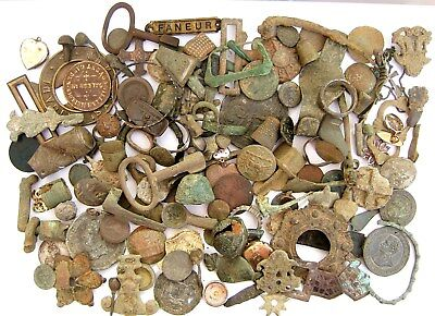 Bulk Lot of Interesting English Metal Detecting Finds – Roman to Modern [#F4]