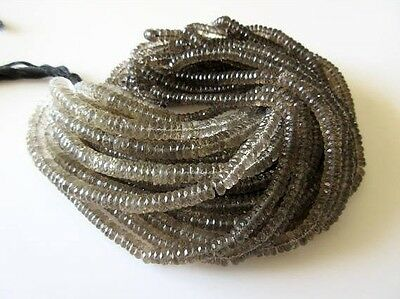 Beautiful Faceted Brown Smoky Quartz Tyre Rondelle 5mm Beads 16 Inches GDS727