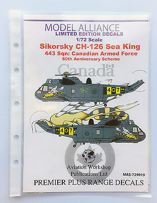 Model Alliance 1/72 decal set - CAF CH-126 Sea King 60th Anniversary Scheme