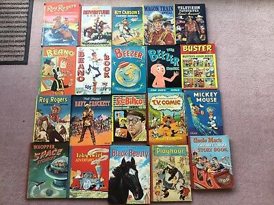 Vintage collectable childrens books/annuals between 50 and 60 years old
