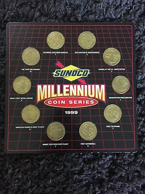Sunoco Gas Millennium Coin Collection Complete 1999 Coin Series Lot With Holder