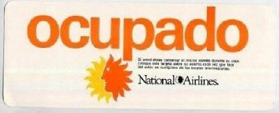 National Airlines Seat Occupied / Occupado Card