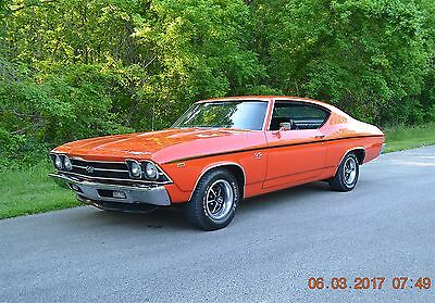1969 Chevrolet Chevelle 2 DOOR HARDTOP 1969 CHEVELLE SS 396 SOLID METAL EVERYWHERE BEAUTIFUL HIGH QUALITY MONACO ORANGE
