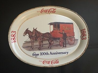 1983 Kroger 100th Anniversary Collectible Coca Cola Tray, Frenchtown, NJ, USA