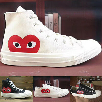 Mens Womens Low & High Tops Lace-UP Skated Athletic Canvas Sneaker Trainer Shoes