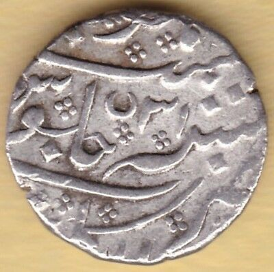 French India Silver One Rupee Arkot Mint In The Of Shah Alam Ii Ry31 Rare #k55