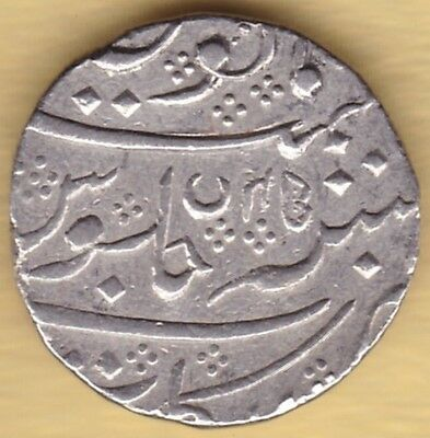 French India Silver One Rupee Arkot Mint In The Of Shah Alam Ii Ry45 Ah1218 #k62