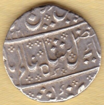 French India Ah1221 Silver 1 Rupee Arcat Mint #p51
