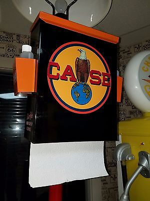 Case Tractor Farm Machinery Nostalgic 50S Era Towel Box Dispenser