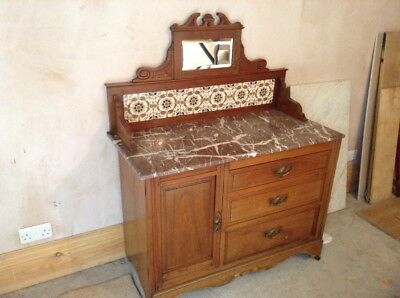 Antique marble tile wash stand - good condition really lovely piece sought after