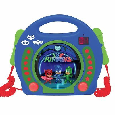 Pj Masks Cd Player With Microphones Portable Kids By Lexibook