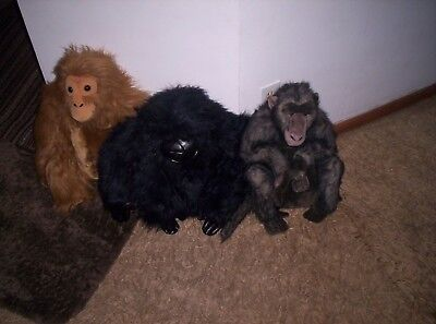 Large plush Gorilla, Baboon, Monkey all 1 foot 10 inches
