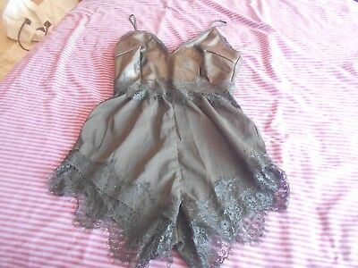 Missguided Black Playsuit Size 8