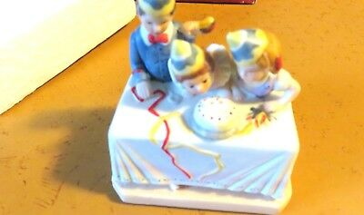 NORMAN ROCKWELL MUSEUM PORCELAIN FIGURINE BIRTHDAY PARTY 1986 - In Box