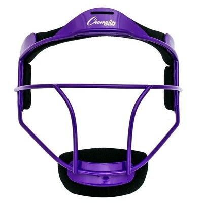 Champion Sports Softball YOUTH Pitcher's / Fielder's Mask, Wide Vision, Purple