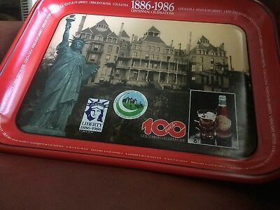 Caca Cola tray Centennial Celebration Tray for the Crescent Hotel. 1886- 1986
