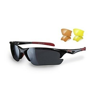 Sunwise Twister Running Sunglasses, Color- Black