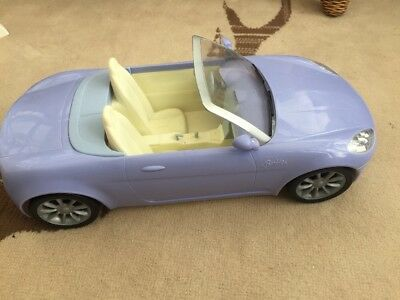 """Barbie doll 2006 Mattel Lilac convertible car For 12"""" Dolls"""