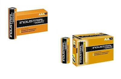 10 + 10 Batterie Duracell Industrial Procell Pile Alcaline Stilo AAA + AA pile