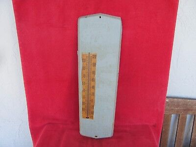 WORKING Old Vintage John Deere Thermometer Advertising Sign Tractor Farm Farmer