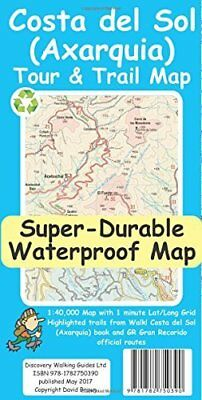 Costa del Sol (Axarquia) Tour and Trail Super- by David Brawn New Sheet map Book