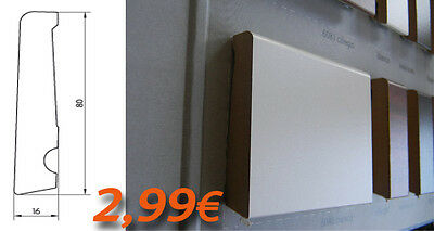 SKIRTING BOARDS HDF 80X16 cutting Modern painting VARIOUS SUPER DEAL