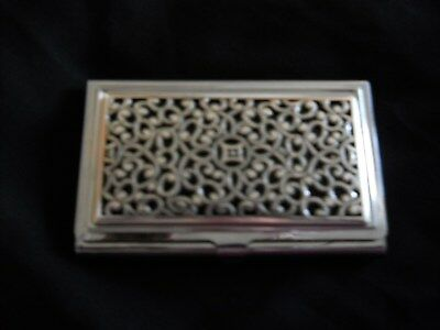Brighton Silver-Color Business Card Holder