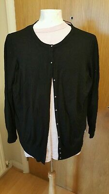 Black marks and spencer ladies cardigan size 22