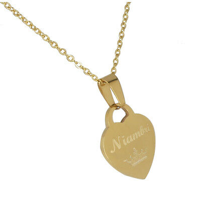 b01c409fa4ca0a Personalized Heart Necklace Custom Engraved Heart Monogram Necklace for  woman