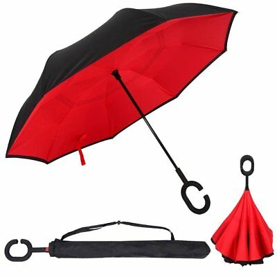 C-Handle Better Brella Inverted 2 Layer Upside Reverse/Down Opening Umbrella New