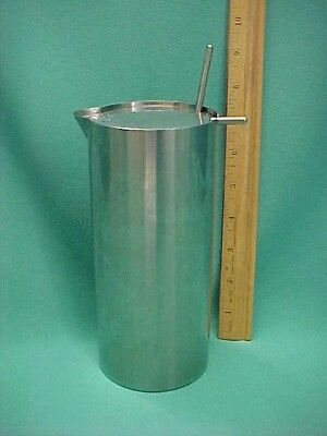 Vintage Stelton Stainless Cylinda-Line by Arne Jacobsen Cocktail Shaker Mixer