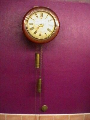 antique postmans clock. c.1890 keeps good time