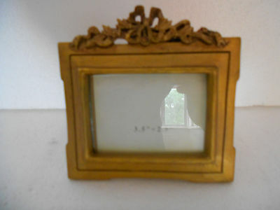 """Gilt gold painted landscape photo picture frame 2.5"""" x 3.5"""" unused"""