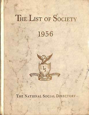The List Of Society 1956 The National Society Directory