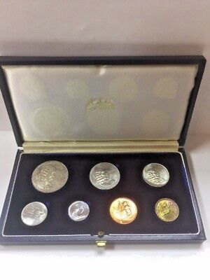 1965 South Africa Proof Set 1 Rand 50 20 10 5 2 1 Cents Old Collection Coin Lot