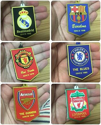 Real Madrid Soccer Keychain Club Barcelona Man United Fans Gift Rubber Silicone