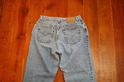 Levis 550 Relaxed Fit Tapered Leg Denim mom Jeans high Waist 14 misses L 31 x 32