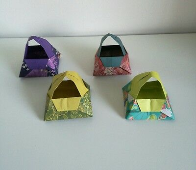 4 origami little baskets