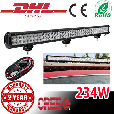 """36"""" inch  234W FLOOD SPOT LED Work Light Bar Roof Offroad Driving Lamp SUV Truck"""
