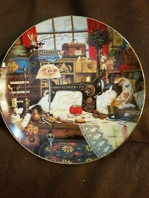 Maggie The Messmaker, PURR-FECT PLACES CAT KITTEN Charles Wysocki Plate w/COA