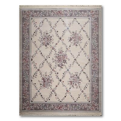 8 X 11 Karastan Look 100 Wool French Aubusson Needlepoint Area
