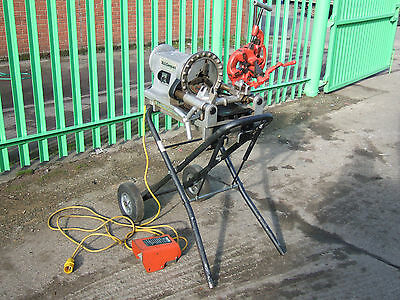 RIDGID 300 COMPACT 110v pipe threader on folding trolley stand.HEATING-PLUMBING.