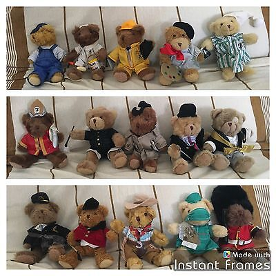 Lot De 15 Ours Peluches The Teddy Bear Collection 18 Cm